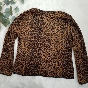 Chico's Jackets & Coats - CHICO'S Leopard Print Open Front Jacket Size 1
